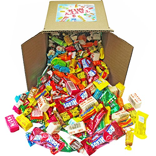 Taffy Candy Party Mix, 6x6x6 Bulk Box (Appx. 4 lbs): Kits, Airheads, Laffy Taffy, Tootsie Rolls, Salt Water Taffy and Much More of Your Favorite Taffies!