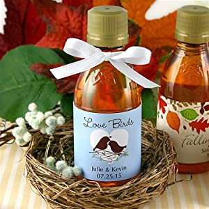Personalized Mini Maple Syrup Bottle Favors