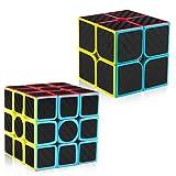 D-FantiX Carbon Fiber 2x2 3x3 Speed Cube Set, Magic Cube Puzzle Toys Kids