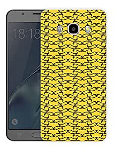 """Moustache Minimal - YellowPrinted Designer Mobile Back Cover For """"Samsung Galaxy J5 2016 Edition"""" (3D, Matte, Premium Quality Snap On Case)"""