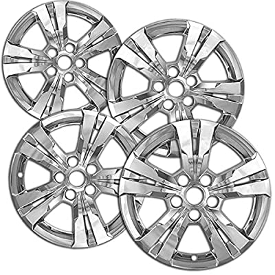 "OxGord Wheel Skins For Chevrolet Equinox 2010-2015 Set of 4 Pack Auto Wheel/Rim Covers, Aftermarket Factory Replacement with High Quality ABS Chrome Plastic Fits 17"" Inch Car Tire with 5 Lug Nuts"