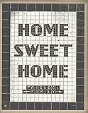 アメリカ ブルックリン発 TWO ARMS (トゥーアームズ) おしゃれ インテリア アートプリントポスター シルクスクリーン Sサイズ Home Sweet Home - Tile ホームスウィートホーム