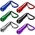 6 Pack Mini LED Keychain Flashlight, MAXIN Battery Poweres Torch Light,Super Mini Key Chain Flashlights, for Camping, Hiking, Hunting, Backpacking, Fishing and other Outdoor Activities. ( 6 Colors )