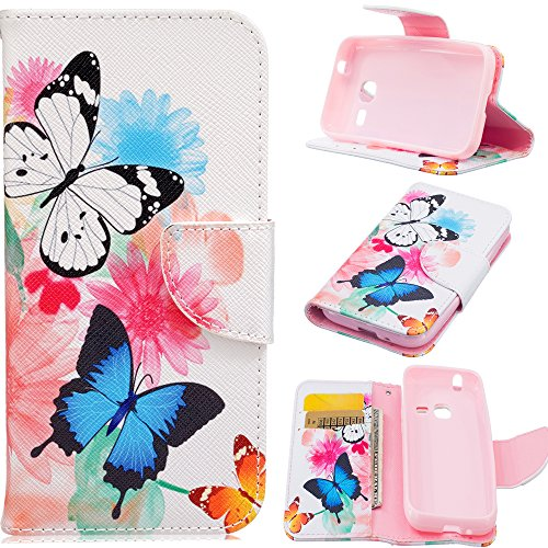 J1 Mini Case, Galaxy J1 Mini Case, Harryshell(TM) Butterfly Wallet Folio Leather Flip Case Cover with Card Holder for Samsung Galaxy J1 Mini J105B (Samsung Galaxy Mini Girl Cases compare prices)