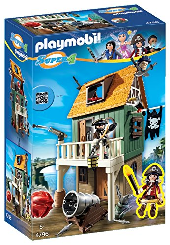 PLAYMOBIL Super 4 Camouflage Pirate Fort with Ruby Building Kit JungleDealsBlog.com