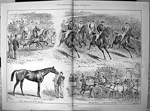 Stampa Antica di Difficoltà Hampton Sturgess 1887 Allegro di Barone della Strada dell'Incrocio di Giorno di Derby