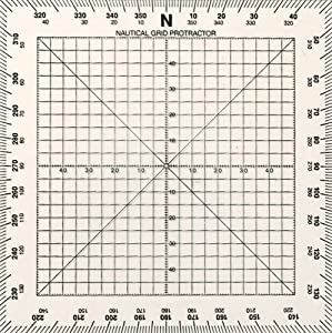 Weems & Plath Marine Navigation Square Protractor (5-Inch) from Weems & Plath
