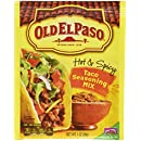 Old El Paso Hot & Spicy Taco Seasoning Mix, 1-Ounce Packages (Pack of 32)