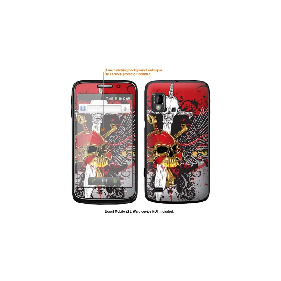 Protective Decal Skin Sticker for ZTE Warp  Boost Mobile version  case cover ZTEwarp 489