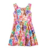 DFXIU Baby Kids Girl Outfit Girls Sleeveless Dress Skirt (Cat, 1-2 Years Old)