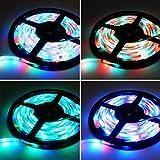 RGB LED Strip Licht Streifen 5m Band Leiste mit 300 LEDs SMD 3528