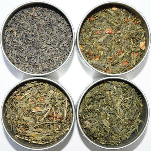 Tea Leaves céleste Tea Sampler, thé vert, 4
