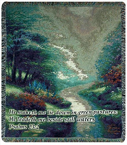 "Thomas Kinkade ""Petals Of Hope"" Tapestry Throw Blanket 50"" X 60"" front-963603"