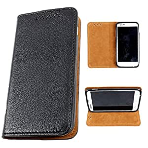 i-KitPit PU Leather Flip Case For Samsung Galaxy Win / Galaxy Quattro (BLACK)