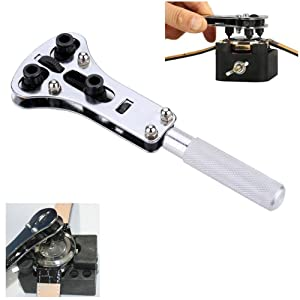 Eagles 1Pcs Adjustable 18 to 64mm Diameter Watch Case Wrench Opener Remover + 1Pcs Adjustable 32-37mm Watch Back Case Opener