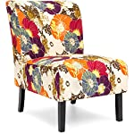 Best Choice Products Modern Contemporary Upholstered Armless Accent Chair (Floral/Multicolor)