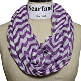 Scarfands Multi-color Chevron Print Infinity Scarf