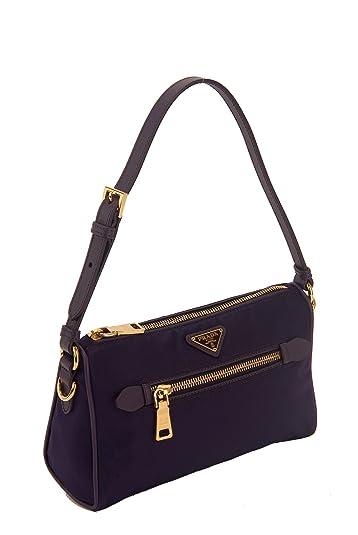 Prada Nylon \u0026amp; Saffiano Leather Small Shoulder Bag: Handbags ...
