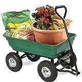 Heavy Duty Poly Garden Utility Yard Dump Cart Wheel Barrow Garden Cart