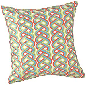 Decorative Pillows Trina Turk : Amazon.com: Trina Turk Louis Nui Braids Embroidered Decorative Pillow, 18 by 18-Inch, Orange ...