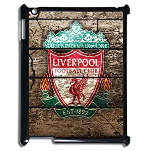 Vintage Wood Pattern Design Liverpool Football Club Team Logo iPad 2/3/4 Nice Durable Case Cover by MyTop Arts