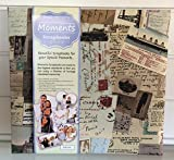 VOPSB10 Voyager Moments Scrapbook Photo albums with decorated fabric covers and plain white paper slip-in pages. Polypropylene protective covers.