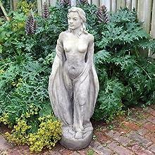 Large Garden Sculpture - Nude Maiden Stone Statue