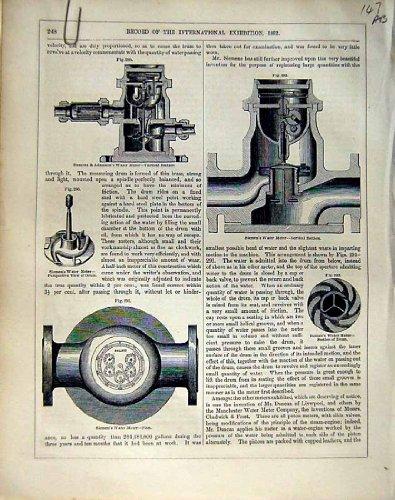*2322 1862 の Intrnational 展覧会の Siemen の水道メーター