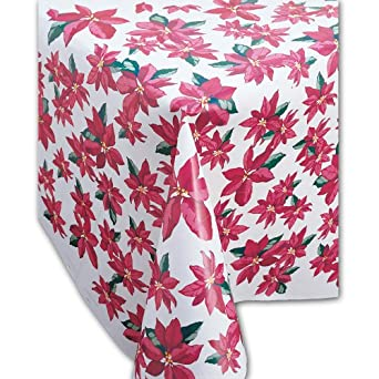 "Creative Converting 060053 Banquet Tableroll, Plastic, Xmas Poinsettia, 100' x 40"" (Case of 2)"