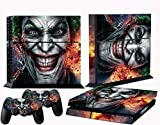 258stickers® Playstation 4 Console Skin & Remote Controllers Skin - The Joker Smile Clown Prince of Crime