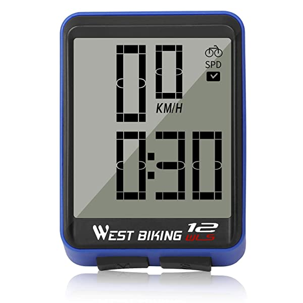 Cycling Bike Computer Bicycle Speedometer Odometer Solar Power LCD Backlight