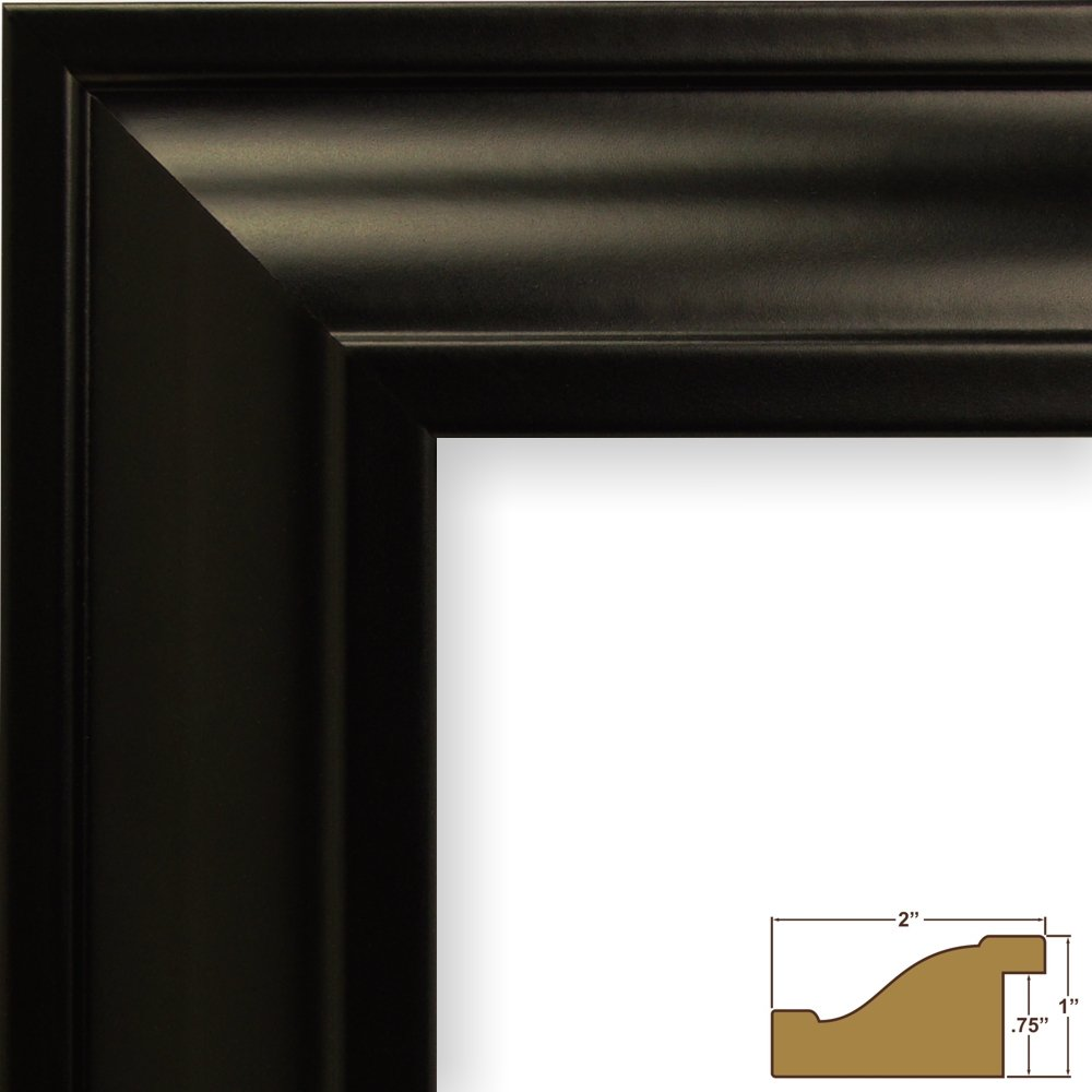 Craig Frames 21834700BK 11x17 Picture/Poster Frame, Smooth Finish, 2 ...