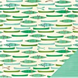 Pebbles Lakeside Canoe 12x12 Scrapbook Paper