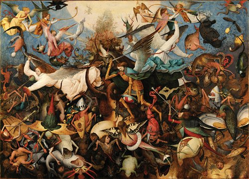 Bruegel Fall of the Rebel Angels Wooden Jigsaw Puzzle