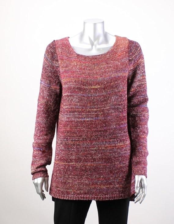 Studio M Womens Knit Marled Tunic Sweater