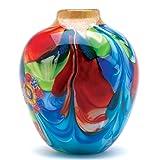 Floral Fantasia Beautiful Art Glass Vase
