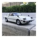 PENGJIE-Model 1: 18 1978 Mazda First Generation RX7 Car Model Four Wheels Can Roll Boyfriend Birthday Gift (Color : White) (Color: White)