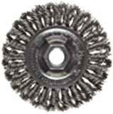 Weiler Dualife Standard Wire Wheel Brush, Threaded Hole, Steel, Partial Twist Knotted