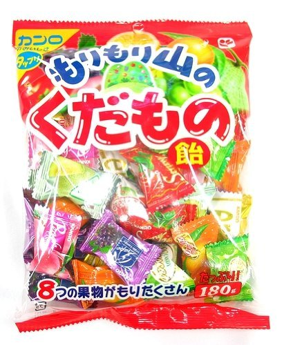 Assorted Hard Candy Pack with 8 Flavors (Apple, Grape, Mikan, Peach, Lemon, Strawberry, Melon, Muscat) 180g x 1