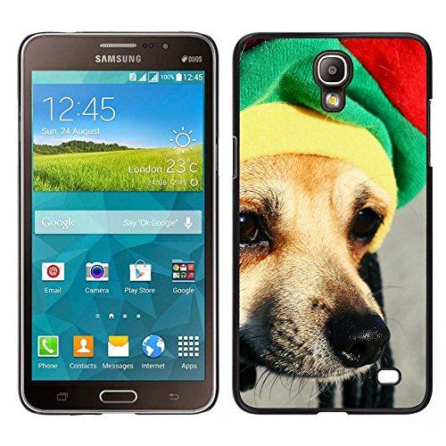BearCase / Stark Shell-Kunststoff-Gehäuse-Schutzhülle /// Samsung Galaxy Mega 2 /// Rasta Mütze Dog Chihuahua Muzzle Schnauze