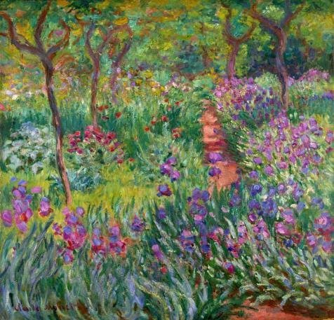 Oil Painting 'The Iris Garden At Giverny, 1899-1900 By Claude Monet' Printing On Perfect Effect Canvas , 8x8 Inch / 20x21 Cm ,the Best Wall Art Artwork And Home Gallery Art And Gifts Is This Vivid Art Decorative Prints On Canvas