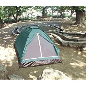 GSI Quality Waterproof Camping Tent, Closed Sun Shelter, With Fiberglass Frame And Carrying Case - For Camping, Hiking, Picnics And All Outdoor Activities