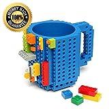Build On Brick Mug 12oz Building Blocks Coffee Mug (Blue) (Color: Blue)