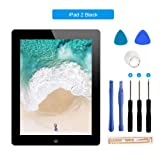 for iPad 2 Touch Screen Digitizer/Front Glass Screen Replacement(Include Home Button) & Tool Kit-Black 9.7 Inch (Color: Black, Tamaño: ipad 2)