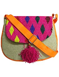 Stylocus - Ladies Sling Bag - Multi Colour Bag - Flapped Sling Bag