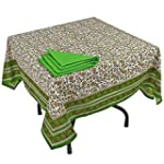 ShalinIndia Cotton Tablecloth and 4 N...
