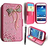 GSD STYLE YOUR MOBILE {TM} Samsung Galaxy Ace 4 G357 Printed PU Leather Magnetic Flip Case Cover + Stylus