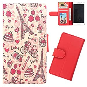 DooDa - For Samsung Galaxy A8 PU Leather Designer Fashionable Fancy Wallet Flip Case Cover Pouch With Card, ID & Cash Slots And Smooth Inner Velvet With Strong Magnetic Lock