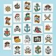 Lot de 24 Tatouages Pirates - Id�al pour les costumes de Pirates