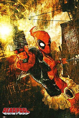 "Deadpool - Marvel Extreme Comic Poster (Gun) (Size: 24"" x 36"")"
